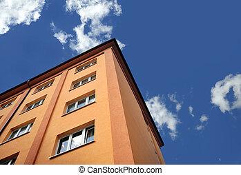 edificio, apartamentos, apartamento, -, bloque