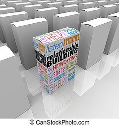 edificio, ayuda, paquete, uno, relación, mejor, producto, ...