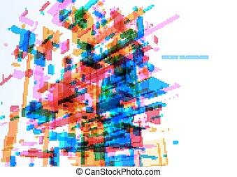 edificio azul, oficina, pared, resumen, moderno
