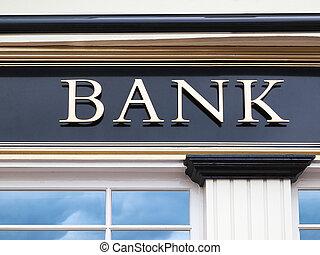 edificio, banco
