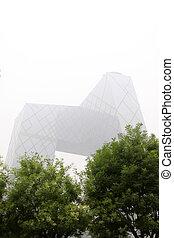 edificio, beijing, distrito, cctv, nuevo, sanhuan, este, chaoyang