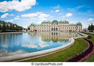 edificio, belvedere, histórico, complejo, viena