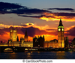 edificio, -, ben, parlamento, grande