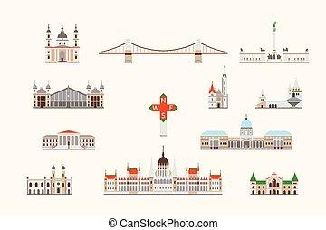 edificio, budapest, histórico