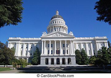 edificio, california, capitolio