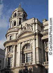 edificio, calle, londres, reino unido, whitehall