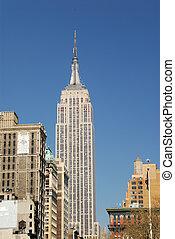 edificio, ciudad, estado, york, nuevo, imperio