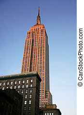 edificio, clásico, -, estado ny, imperio, manhattan