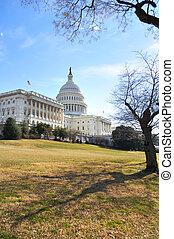 edificio, colina de capitol