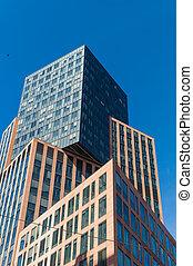 edificio comercial, con, oficinas