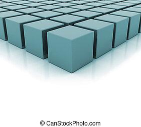 edificio, concepto, bloques, ilustración
