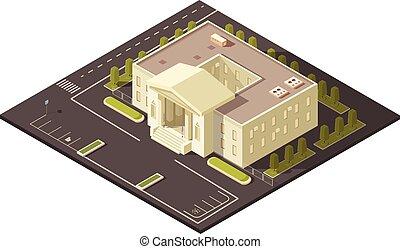 edificio, concepto, gobierno