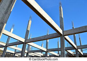 edificio, construir, sitio
