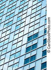 edificio de cristal, primer plano
