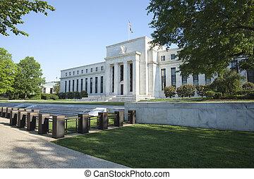 edificio de la reserva federal, en, washington, cc