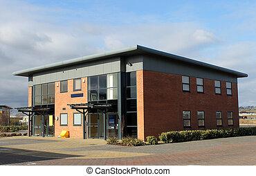 edificio de oficinas, en, empresa / negocio, parque