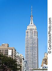 edificio del estado del imperio, ciudad nueva york