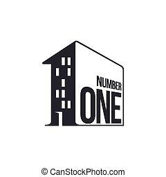 edificio di appartamenti, numero, nero, logotipo, bianco
