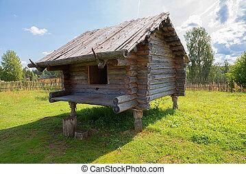 edificio, el almacenar, eslavo, siglo, comercial, productos,...