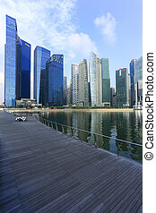 edificio, empresa / negocio, singapur, poder, -, moderno, bahía, singapore., 26, arquitectura, puerto deportivo, 26:, 2013