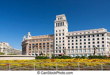 edificio, en, centro, de, barcelona
