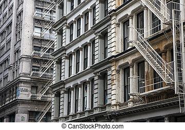 edificio, en, nueva york