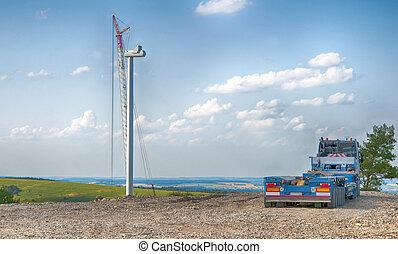 edificio, enrolle turbinas
