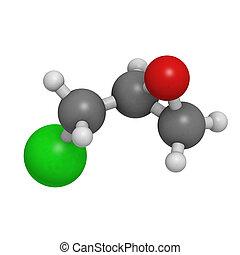 edificio, epichlorohydrin, resina, (ech), epoxi, block.