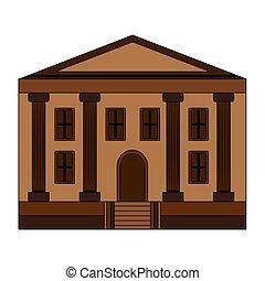 edificio, escuela, educación, icono