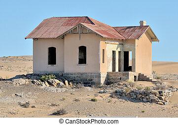 edificio, estación, namibia, luderitz, grasplatz