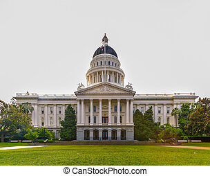 edificio, estado, california, capitolio