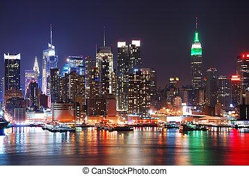 edificio, estado, imperio, ciudad, york, nuevo