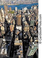 edificio, estado, york, nuevo, imperio, vista