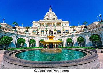 edificio, estados unidos de américa, capitolio, congreso,...