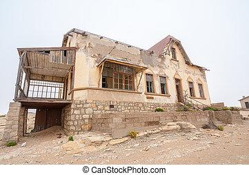 edificio, fantasma, pueblo,  Kolmanskop