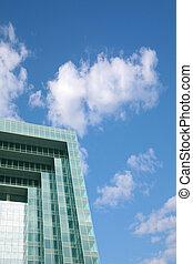 edificio, fasade, moderno, cielo
