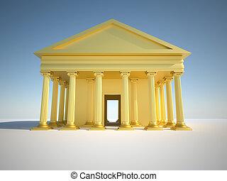 edificio, griego