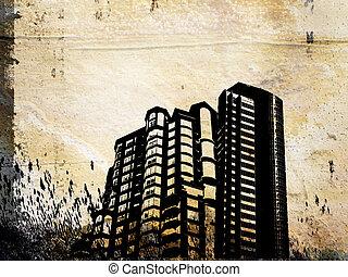 edificio, grunge