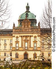 edificio histórico, de, gobierno, en, praga, república checa