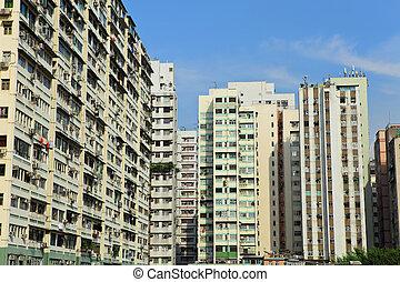 edificio, hong, viejo, kong