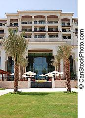 edificio, hotel, isla, lujo, saadiyat, dhabi, uae, abu