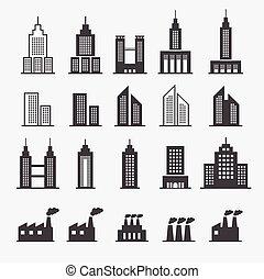 edificio, icono