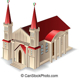 edificio, iglesia vieja