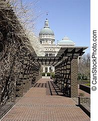 edificio, indianapolis, capitolio