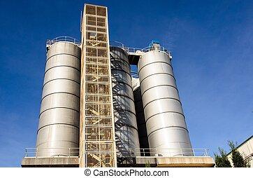 edificio, industrial, tecnología