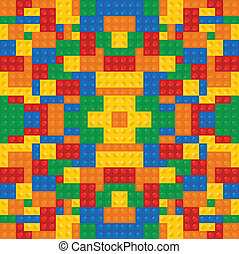 edificio, juego, bloques, coloreado