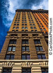 edificio, manhattan, whitehall, york., nuevo, más bajo