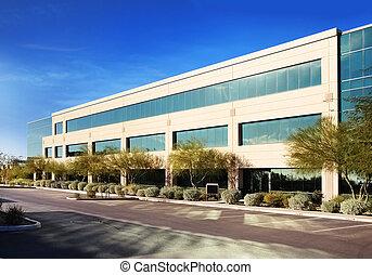 edificio, moderno, comercial