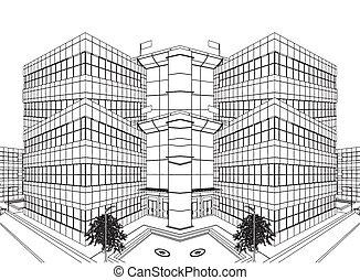 edificio moderno, construcción