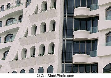 edificio, moderno, exterior, edificio.